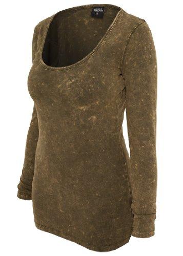 Urban Classics Ladies -  Maglia a manica lunga  - Donna verde XS