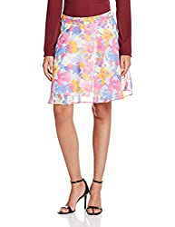 People Women's Peplum Skirt (P20402065647334_multi color_Small)
