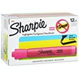 Sharpie 25009 Accent Tank-Style Highlighter, Fluorescent Pink, 12-Pack