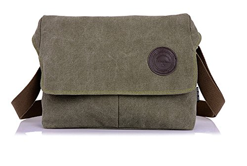 Bronze Times discount duty free Bronze Times (TM) Portable Casual Canvas Crossbody Messenger Bag (Green)
