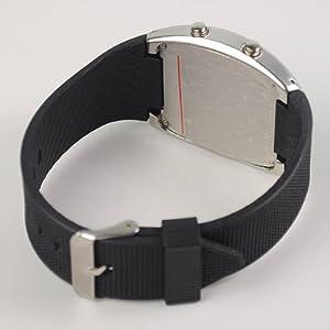 Tomorrowtop - Reloj de pulsera con luz LED azul
