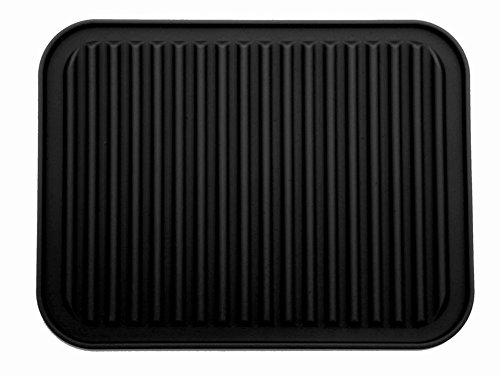 9″ x 12″ Silicone Pot Holder, Trivet Mat, Baking Gadget Kitchen Table Mat – Waterproof, Heat Insulation, Non-Slip,Trivet, Tableware Pad Coasters (Black)