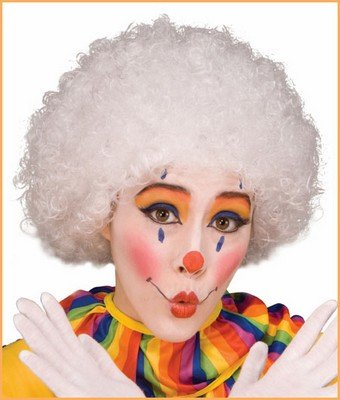 Costume Wigs Clown Wigs White Afro Wig