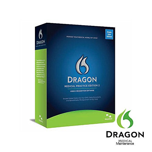 Nuance Dragon Medical Practice Edition 2 With Maintenance - 1 License Retail Box ( Doesn'T Include Dmpe2)