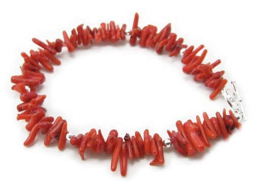 AM5850 – Unique Sponge Coral and 925 sterling silver bracelet by Dragonheart – 20cm