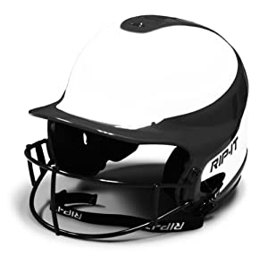 RIP-IT Vision Pro Softball Helmet ft. Blackout Technology - Black - Small/Medium