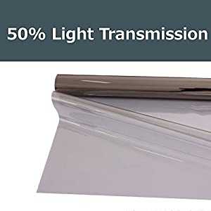 50% shade color 20 Inches by 10 Feet Window Tint Film Roll, for privacy and heat reduction from PROTINT WINDOWS