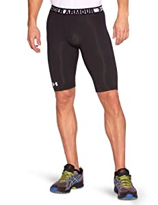 "Under Armour Sonic Long Compression 9"" Men's Shorts - Black, S"