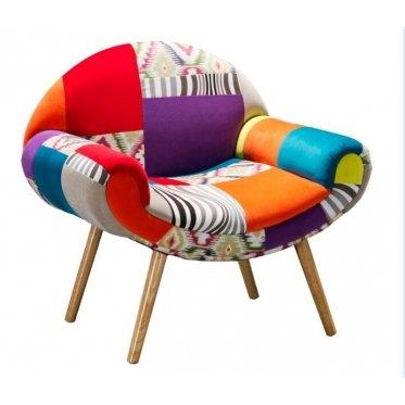 Silla con Diseño patchwork Hippie multicolor