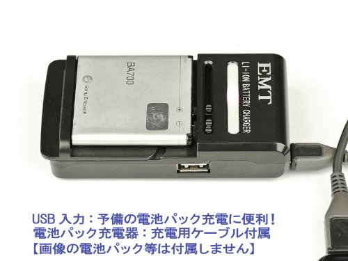 EMT 電池パック充電器 黒 汎用マルチタイプ EMT-USB7701