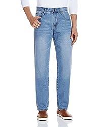 Fox Men's Straight Fit Jeans (418410110936_418410_36W x 32L_Denim)