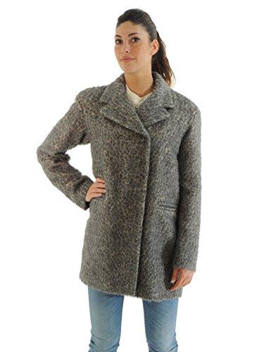 Liu Jo cappotto donna doppiopetto taglio dritto vestibilità comoda C65050T1568 (46, GRIGIO)