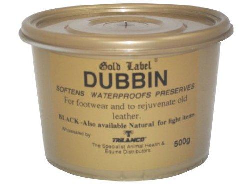 Artikelbild: Lederfett Gold Label Dubbin. Klar & Schwarz (Schwarz, 500g)