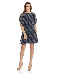 Scullers Women's A-Line Dress (YD0091_Navy_40)