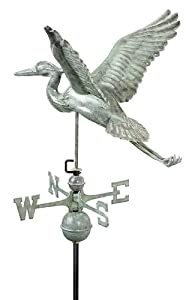 Good Directions 9606V1 Blue Heron Weathervane, Blue Verde Copper from Good Directions