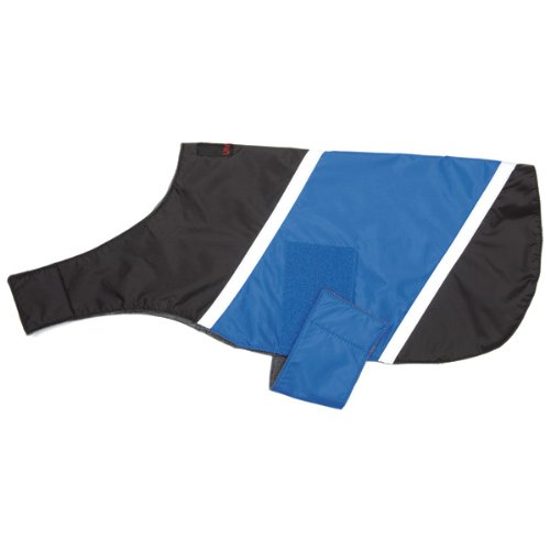 Ultra Paws Dog Coat - Small in Blue with Black