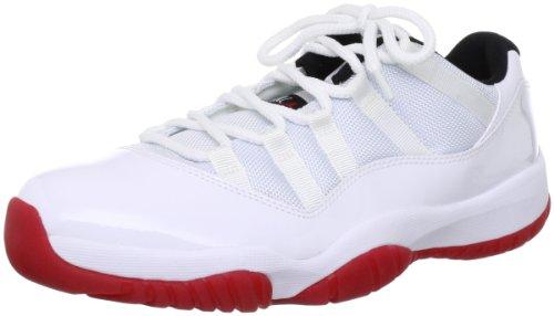 Mens Nike Air Jordan 11 Retro Low Basketball Shoes White / Black / Varsity Red 528895-101