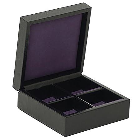 1834 Ciervo Four Piece Cufflink Box by Wolf