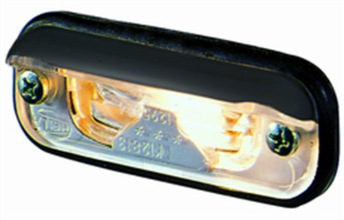 Hella 001378127 1378 Series Black License Plate Lamp