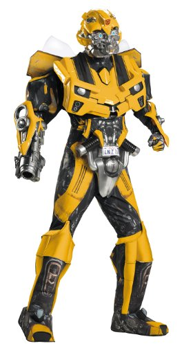 Disguise Men's Hasbro Age Of Extinction Bumblebee Theatrical with Plus 3D Costume