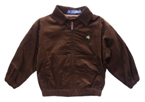 J. Bailey Boy's Chocolate Corduroy Bomber Jacket 3T ha bailey