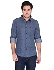 Blue Wave Slim Fit Denim Shirt