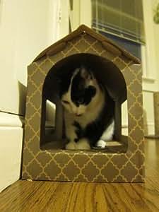 SmartyKat ScratchCabin Covered Cat Scratcher Scratch Cabin