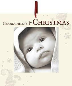 Havoc Gifts Grandchild's 1st Christmas Glass Photo Ornament
