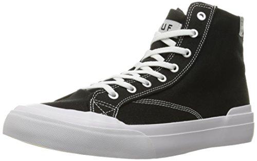 HUF Men's Classic Hi Ess Tx Skateboarding Shoe, Black, 11 M US