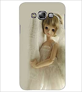 PrintDhaba Cute Doll D-1112 Back Case Cover for SAMSUNG GALAXY A7 (Multi-Coloured)