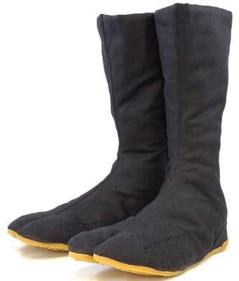 力王 縫付け 保温たび 12枚コハゼ 黒 24.5cm Hf12