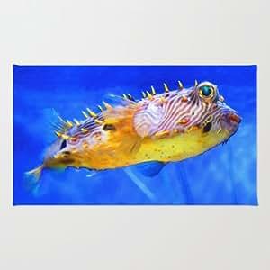 Amazon.com - Society6 - Magic Puffer - Fish Art By Sharon Cummings Rug ...