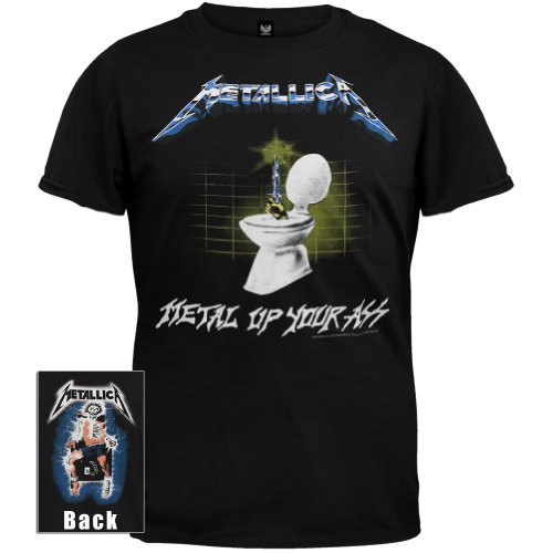 Old Glory - Metallica - Mens Metal Up T-Shirt Medium Black front-996761