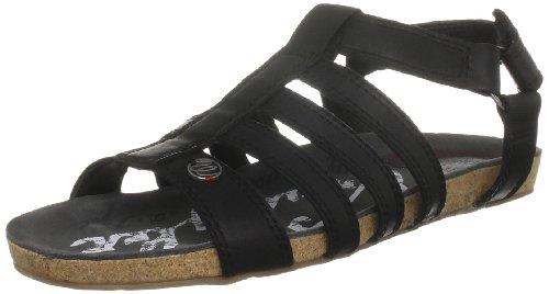 Wrangler Women's Frisco Leather Black Open Toe