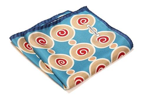 TINO COSMA(ティノコズマ) ポケットチーフ 渦巻き柄 No.010 (No.010006 ブルー)