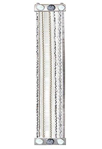 Gioielli-argentã ©-Hipanema-Braccialetto in perle e pietre argentate-Hipanema Luna-dimensioni: M