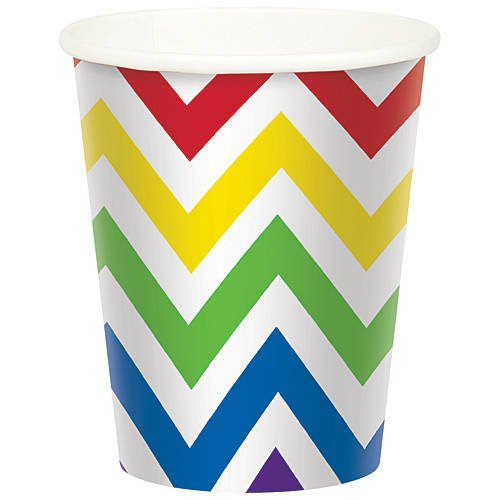 Rainbow Chevron Party Cup Pack of 8