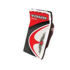 Buy Tour Hockey Adult Evo 6000 Blocker (Red Black) by Tour Hockey