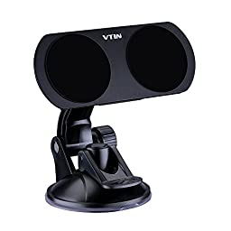 Vtin 2 in 1 Dual Magnetic Car Phone Holder Dashboard Windshield Dock Stand for Apple Watch,iPhone,Samsung,HTC,Sony, Other Mobile Phones