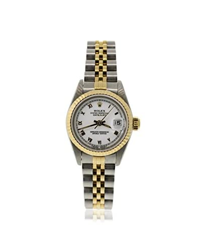 Rolex Women's Pre-Owned Datejust White/Stainless Steel & 18K Yellow Gold Jubilee Watch