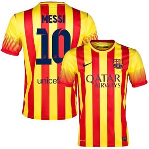 2013-14 Messi Barcelona Away Jersey.. Size Men (Medium)
