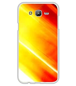 Orange Pattern 2D Hard Polycarbonate Designer Back Case Cover for Samsung Galaxy On7 G600FY :: Samsung Galaxy On 7 (2015)
