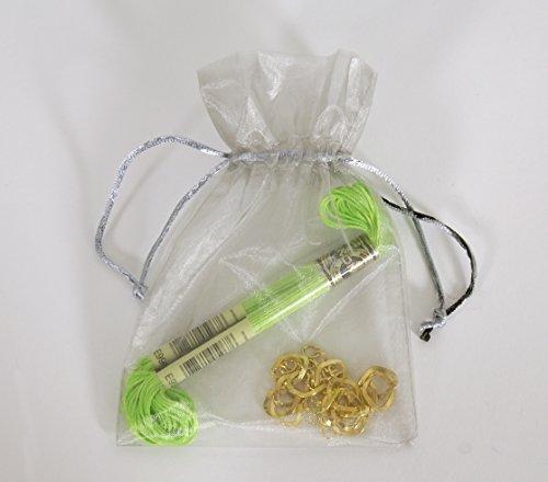 Kit bracelet chaîne or et fil fluo vert U2030