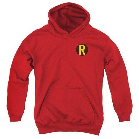 trevco-dc-robin-logo-youth-pull-over-hoodie-red-large