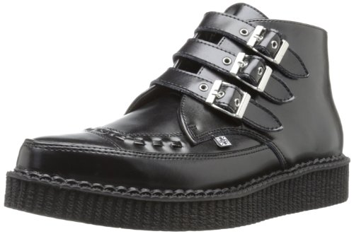 TUK  Pointed Creeper,  Sneaker uomo Nero Noir (Black Leather/Black Interlace) 38