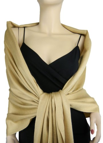 Pashmina/Silk Wrap Gold