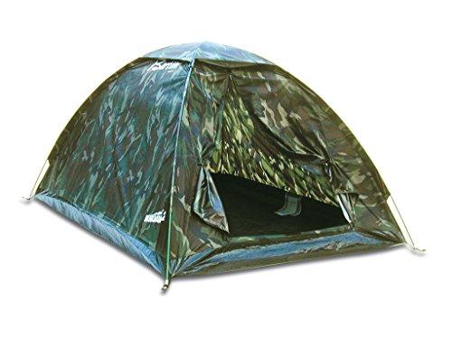 Bertoni Monodome 2 Camo Tenda da Campeggio Ultraleggera Mimetica, Camo Verde, Unica