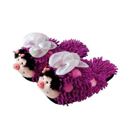 Cheap Kid's Fuzzy Slipper Butterfly (B006I82ZUQ)