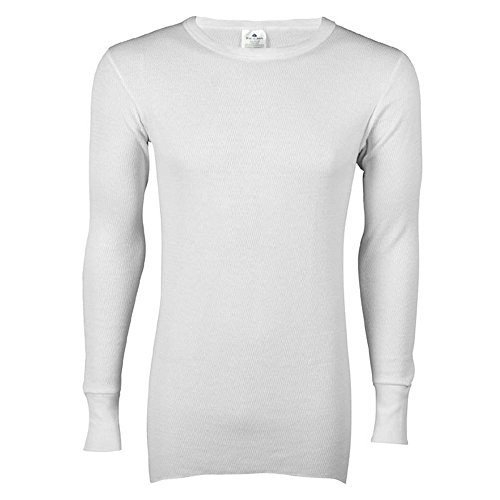 Indera - Mens Icetex Dual Face Fleeced Thermal Long John Top 286LS, White 23493-Small (Arctex Thermal Underwear compare prices)