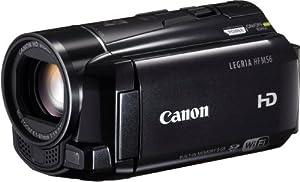 Canon Legria HFM56 Caméscope numérique HD Port SD/SDHC 2,3 Mpix Zoom optique 10x Wifi Mémoire Flash intégré 8 Go Noir